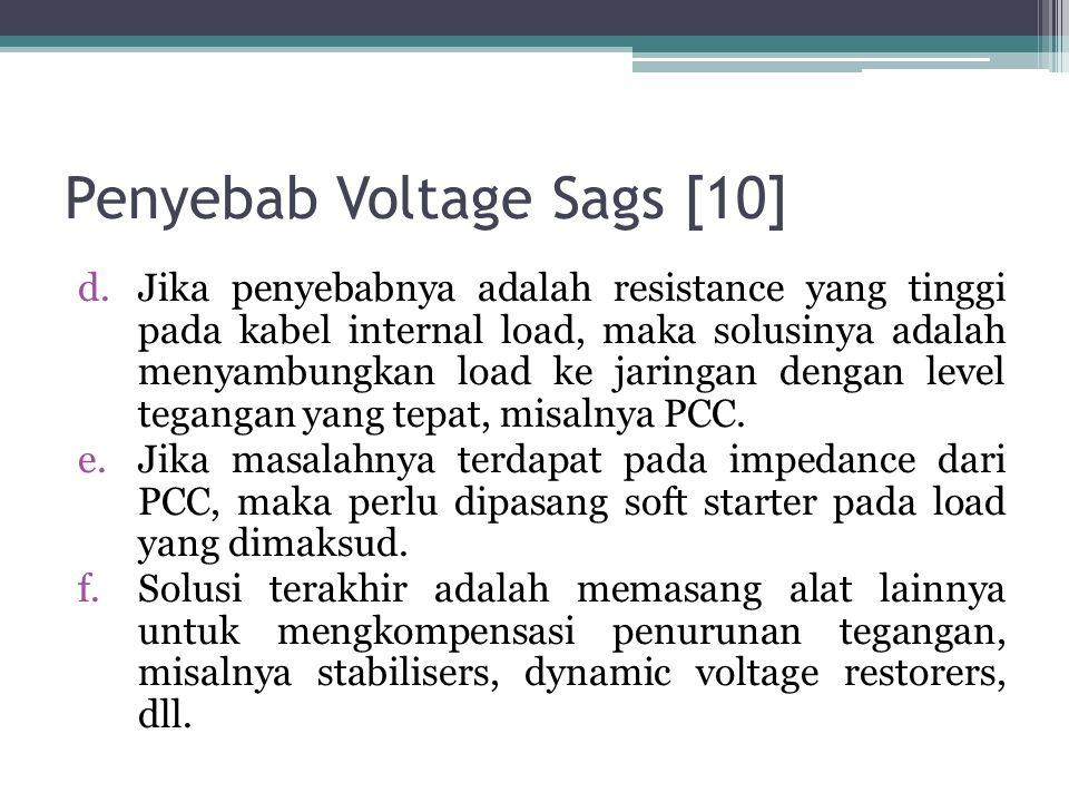 Penyebab Voltage Sags [10]